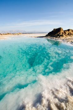 The Dead Sea, Israel which is only 45 minutes from Jerusalem. There are salt mines there for their abundance of salt.
