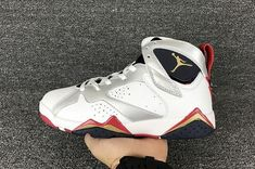 sale retailer 91b63 df39e Latest Air Jordan 7 Retro Olympic White Metallic Gold-Obsidian-True Red Sale  -