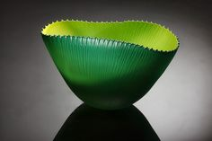Lime Green Fin Bowl