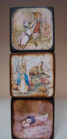 Beatrix Potter Blocks by ChickenDoodles on Etsy