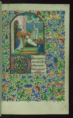 Book of Hours Burial service Walters Manuscript W.220 fol. 187r by Walters Art Museum Illuminated Manuscripts