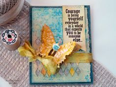 Sizzix Tutorial   Courage Is Card by Audrey Pettit