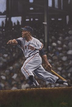 Artist Paul Lempa A lifelong sports fan and avid artist, Paul Lempa started teaching himself how to paint at the age of 33 after seeing a baseball art Baseball Posters, Baseball Art, Baseball Signs, Baseball Stuff, Sports Posters, Giants Baseball, Baseball Photos, Sports Logos, Sports Memes