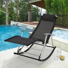 Mobilier de jardin vert rocking chair couleur jet