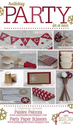Holiday Party Package Holiday Party in a Box by partypaperscissors, $59.99