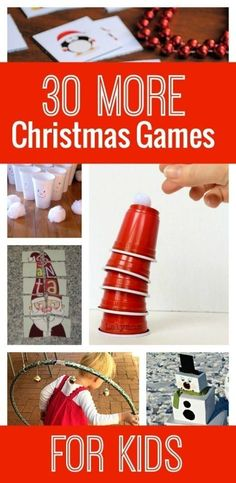 30 More Awesome Christmas Games for Kids : Looking for more awesome Christmas games for the kids? Check out these 30 Christmas games! These are perfect for family gatherings, winter boredom busters, or classroom parties! School Christmas Party, Christmas Games For Kids, Holiday Games, Noel Christmas, Xmas Party, Family Christmas, Winter Christmas, Holiday Fun, Christmas Cactus