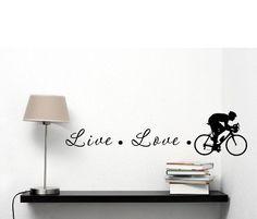 Live Love Cyclist 22x6 Inches Vinyl Car Sticker Symbol Silhouette Keypad Track Pad Decal Laptop Skin Ipad Macbook Window Truck Motorcycle SSC inc. http://www.amazon.com/dp/B00M3CJFL8/ref=cm_sw_r_pi_dp_cww0tb0ANK2QE74D