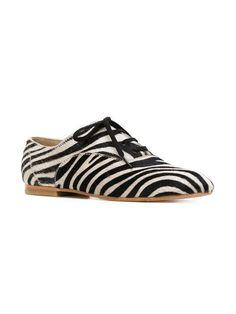 Junya Watanabe Comme Des Garçons Zebra Print Oxford Shoes - Farfetch 5c067aa2e2c9