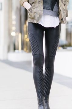 b5100d218e Get your moto running! | Faux Leather Moto Leggings by SPANX Spanx Leather  Leggings,