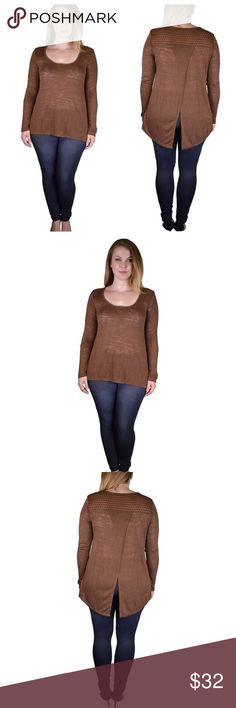 Toffee brown top Please see above pictures for description. If you have anymore questions please let me know ! Tops