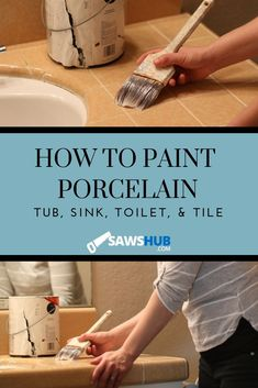 Contemporary Home Decor Fabric Learn how to paint porcelain, ranging from your toilet to your tub to your sink. These painting tips will help you select the best paint as well. Porcelain Kitchen Sink, Ceramic Sink, Ceramic Bowls, Painting Bathtub, Ceramic Painting, How To Paint Bathtub, Ceramic Art, Kitchen Buffet, Woodworking Projects Diy