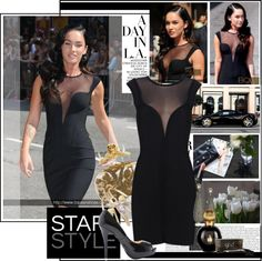 """""""Star style....Megan Fox in Bqueen dress"""" by marybloom ❤ liked on Polyvore"""