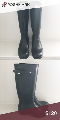 NIB Matte Black Hunter boots size 10 Brand new in box. Black matte. Size 10. Hunter Boots Shoes Winter & Rain Boots
