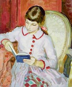 Girl reading - Henry Lamb 1939British painter 1883-1960