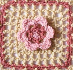 """Ravelry: Floral Filet - 6"""" Square pattern by Melinda Miller"""