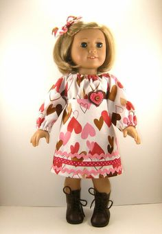V-day American Girl outfit - handmade