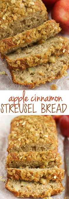 This Apple Bread is absolutely delicious. Easy and the perfect mix of spices with a delicious streusel topping, you will make this amazing apple cinnamon bread all fall. Apple Cinnamon Bread, Apple Bread, Cinnamon Apples, Cinnamon Butter, Banana Bread, Bread Cake, Dessert Bread, Fruit Bread, Apple Recipes
