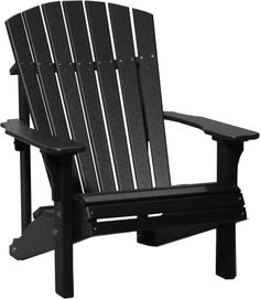 LuxCraft Recycled Plastic Deluxe Adirondack Chair - Outdoorsrockingchair.com
