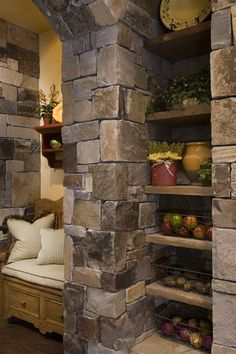 Interior walls, I absolutely love stone