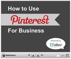 How to Use Pinterest for Business by @mmmsocialmedia - Miller Media Management. For more business marketing tips search #mmmsocialmedia