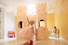 I have been getting lots of questions about how I madethis Cardboard Castle formy daughters' Storybook Princess Party..So here's a full tutorial on how to make it yourself!If you get free box...