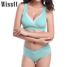 Wisstt Pregnant Women Sleep Breastfeeding Nurse Bras Underwear Maternity Underwear Bra+Panties Briefs Wire Free Nursing Bra Set #>=#>=#>=#>=#> Click on the pin to check out discount price, color, size, shipping, etc. Save and like it!
