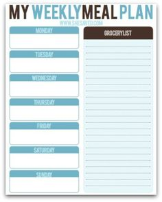 Print this FREE Meal Planning Printable to help you to plan our your family meals and take some of the stress out of mealtime!
