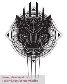 Geometric-black-panther Web by RusselS.deviantart.com on @DeviantArt