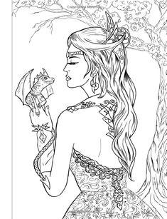 coloring book fantasy mermaids fairies amazing coloring book for all ages alena lazareva 9781532998508 amazoncom books