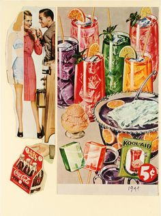 Eduardo Paolozzi, Refreshing and Delicious, from Bunk, 1972, screen print, Tate