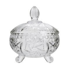Bomboniere de Cristal Ecológico Vintage 24cm - Home Style Jar, House Styles, Kitchen, Vintage, Home Decor, Products, Bar Accessories, Market Trends, Dreams Beds