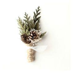 winter weddings, winter flowers, winter wedding bouquets.  boutonniere