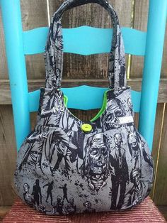 Hey, I found this really awesome Etsy listing at https://www.etsy.com/listing/193234746/walking-dead-zombie-handbag-purse