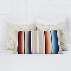 Decorative Lumbar Pillow   Ombre Striped Design   – The Citizenry