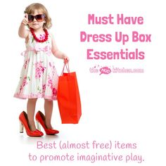 Make the best dress up box for your kids with our must have dress up ideas. The top (almost free) essentials to promote hours of quality imaginative play.