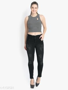 Checkout this latest Jeans Product Name: *Ladies Denim Jeans * Fabric: Denim Multipack: 1 Sizes: 28 (Waist Size: 28 in, Length Size: 40 in)  30 (Waist Size: 30 in, Length Size: 40 in)  32 (Waist Size: 32 in, Length Size: 40 in)  34 (Waist Size: 34 in, Length Size: 40 in)  Country of Origin: India Easy Returns Available In Case Of Any Issue   Catalog Rating: ★3.9 (649)  Catalog Name: Pretty Fashionista Women Jeans CatalogID_928262 C79-SC1032 Code: 175-6102523-1941