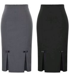 - Concealed zipper in the back - With bow-knots and kickpleats embellished - Soft & comfortable fabric - Skirt is well elastic - Not lined - Rayon and spandex - Hand wash cold -PREORDER DAYS SHIPPING) outfit Chic and Classy Bow Pencil Skirt Pencil Dress Outfit, Pencil Skirt Casual, Pencil Skirt Outfits, Denim Pencil Skirt, High Waisted Pencil Skirt, Pencil Skirts, Pencil Dresses, Denim Skirt, Midi Skirt