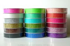 Glitter Washi Tape!! This is so fun :)