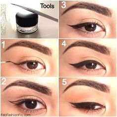 How to create the perfect cat eye make-up look? #eyeliner #cateyes #makeup
