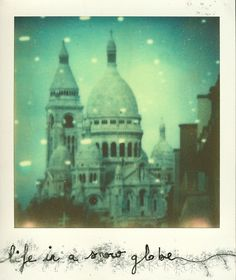 life is a snow globe (polaroid)