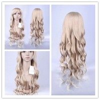 Milk Gold gradient mixing High Temperature Wave wigs Fashion wigs