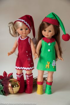 Nancy disfruta de la Navidad Muñeca Diy, Nancy Doll, Baby Born, Christmas Love, Cool Toys, Childhood Memories, Elf, Doll Clothes, Summer Dresses