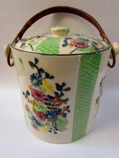 Vintage English Biscuit/Cookie/Cracker Barrel/Jar. $29.00, via Etsy.