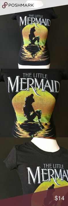 The Little Mermaid Disney T-Shirt The Little Mermaid Disney T-Shirt  Purchased from Target Black with cute graphic  60% cotton/ 40% polyester  Great condition, gently used Disney Tops Tees - Short Sleeve