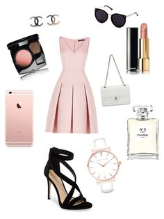 """Channel outfit👱🏽‍♀️👱🏽‍♀️"" by davidmihaela on Polyvore featuring BCBGMAXAZRIA, Imagine by Vince Camuto, Chanel and Abbott Lyon"