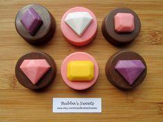 JEWEL Chocolate Covered Oreos (12) - PRINCESS Birthday/Diamond Favors/Engagement Party