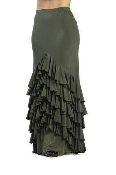Flamenco Skirt Model Vega ref. Flamenco Costume, Flamenco Skirt, Stylish Kurtis Design, Long Skirt Outfits, Sleeves Designs For Dresses, Edwardian Dress, Dance Outfits, African Fashion, Dress To Impress