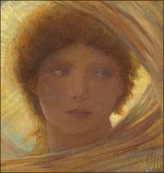 Portrait of a Young Woman - Ref: MI502 - Collection: Lumina - Series: Mirza - Author: Elihu Vedder