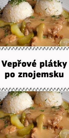 Slovak Recipes, Hungarian Recipes, Food And Drink, Menu, Favorite Recipes, Chicken, Cooking, Meat, Easy Meals