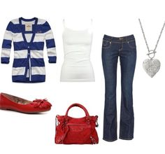Cute Red White & Blue outfit..